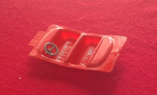 Corgi Toys - Original - 237 Oldsmobile Super 88 County Sheriff Car Red plastic Interior seating unit and steering wheel
